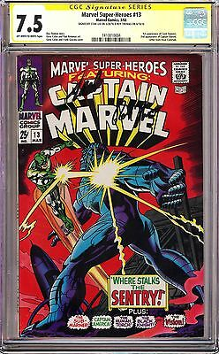 MARVEL SUPER-HEROES #13 (1968) CGC 7.5 SS Signed x2 Stan Lee & Roy Thomas!!