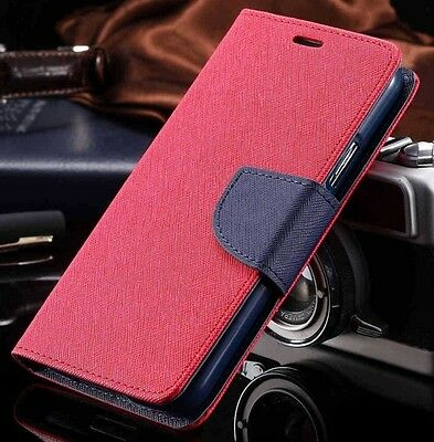 Luxury Mercury Magnetic Red & Blue Flip Case Cover For Galaxy S4 {pY13