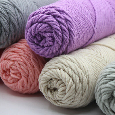 Soft Long Cotton Yarn Thick Yarn Knitting Baby Wool Crochet Yarn Weave Thread