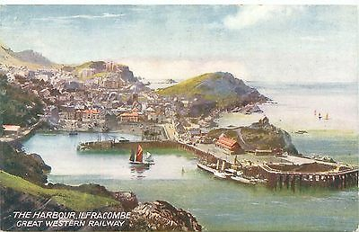 Great Western Railway Official Postcard. The Harbour, Ilfracombe Great Western R