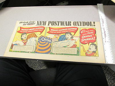 newspaper ad vintage 1950s OXYDOL household cleaner soap detergent