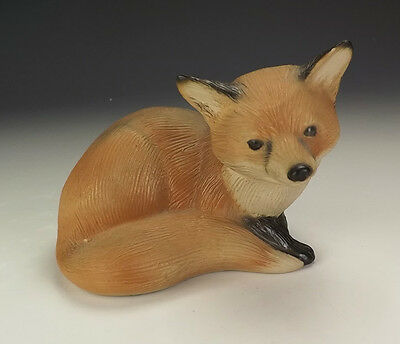 Vintage Purbeck Pottery - Fox Cub Figure - Lovely!