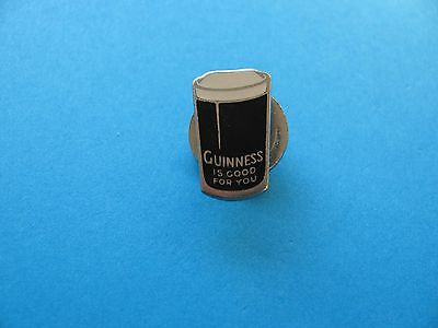 Vintage 30's Enamel Guinness Pint Button Hole Badge. Miller. Good Condition.