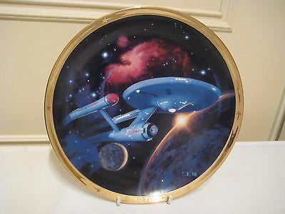 Star Trek 25Th Anniversary Comm Plate Boxed & Coa - U.s.s. Enterprise (Jml)
