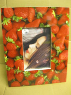 "24 x STRAWBERRY PHOTO FRAME 4 x 6""  BRITHDAY PRESENT WHOLESALE JOB LOTS FRUIT"