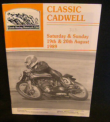 CLASSIC CADWELL OFFICIAL PROGRAMME 19th & 20th AUGUST 1989