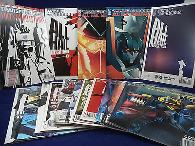 TRANSFORMERS ALL HAIL MEGATRON Complete Series + Focus on Deceptions 17 Comics