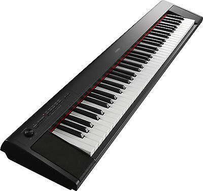 Used NP 32 Yamaha Piaggero Digital Piano 76 Buttons Graded Soft Touch Black