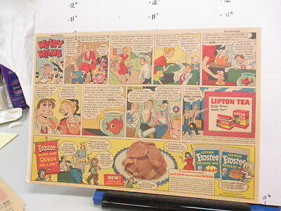 newspaper ad 1951 LIPTON Tea comic Frostee ice cream dessert mix WEARY WILLIE