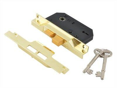Union 2242 2 Lever Mortice Rebated Sash Lock Electro Brass 78.5mm 3in Visi