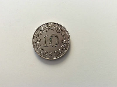 Maltese 10 Cent Coin.   Dated  1972