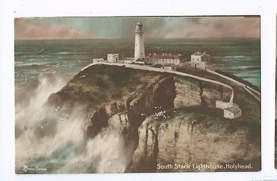 Postcard South Stack Lighthouse Anglesey Holyhead 1914 Anglesey Elmer Keene