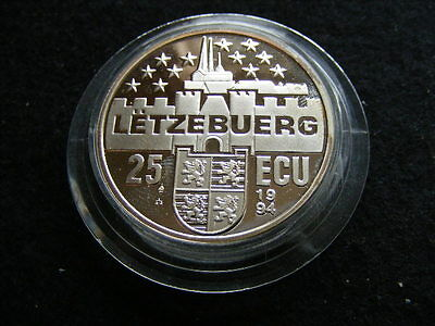 LUXEMBOURG 25 ECU 1994 Duchesse de Luxembourg Silver Proof some surface marks