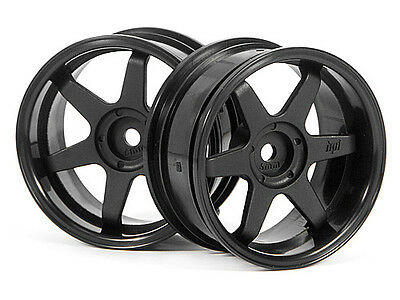 HPI Te37 Wheel 26mm Black (6mm Offset) #3846
