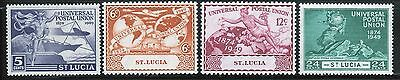 Omnibus St Lucia Universal Postal Union 1949 set of stamps.
