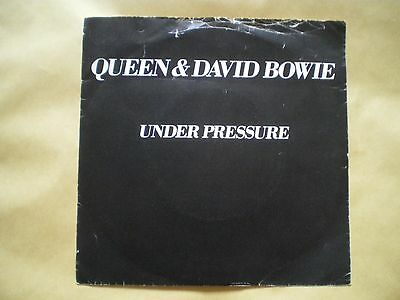 "Queen And David Bowie Vinyl Record - Under Pressure - 7"" Single"