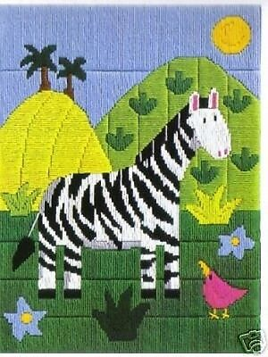 Zara The Zebra Longstitch Tapestry Needlepoint Canvas DMC