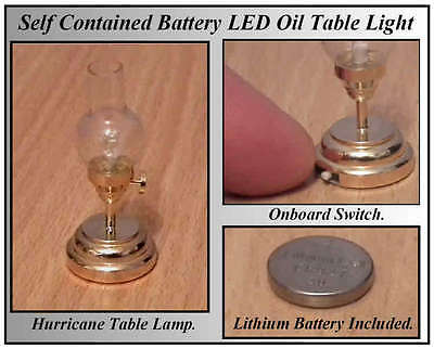 1/12, Working LED Battery No wiring Needed Dolls House Brass Hurricane Light LGW