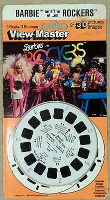 View-Master 3-D Barbie and The Rockers 7152 Set of 3 Reels New 1986 MOC