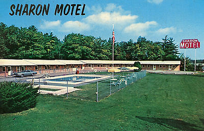 Sharon Mass. Sharon Motel Exit 9 Route 95 Postcard
