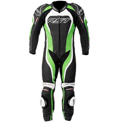 RST Motorcycle 1415 Tractech Evo II Mens Leather Suit Green