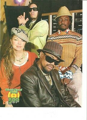 The Black Eyed Peas, Full Page Color Pinup #2, Clipping