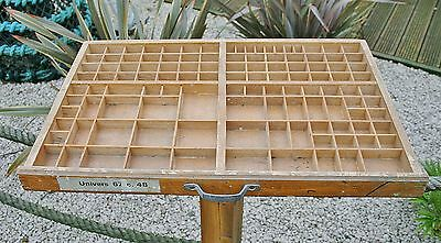 Vintage French Wooden Letterpress Printers Type Tray Small Collectables Display