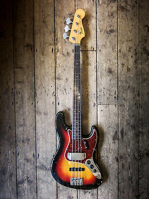 1964 Fender Jazz Bass Vintage Fender Bass Collectable With Hardshell Case