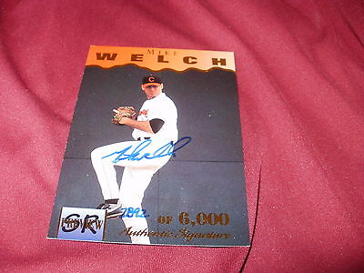Signed Mike Welch , 1995 signature Rookies Card