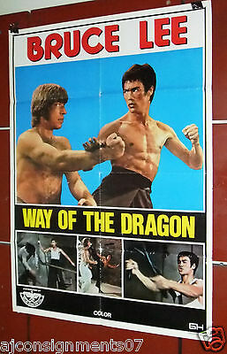 "Way of the Dragon (Bruce Lee) 39x27"" Lebanese Original Movie Poster 70s"