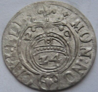 AUCTION start 1 $ LIVONIA Sweden  1/24 THALER 1629 and POLAND 1/24 THALER 1615