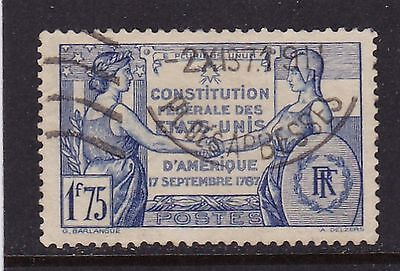FRANCE #332 USED 150th ANNIV. OF THE US CONSTITUTION
