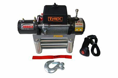 Raptor 4x4 Tyrex Winch 8000lbs 28m Wire Rope Off Road Recovery Winching
