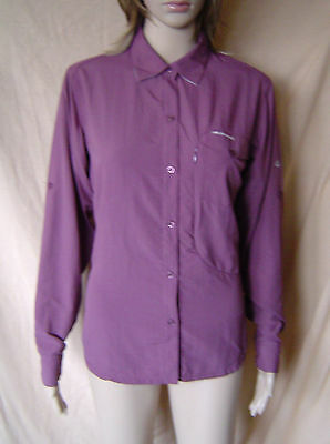 Womens Craghoppers Purple Cooling Insect Repellant Walking/hiking Shirt Size 12