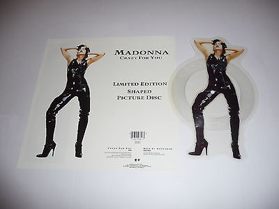 Madonna - Crazy for you SHAPED PICTURE DISC + Plinth