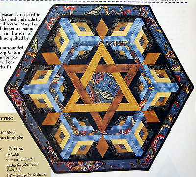 Rachel's Star Wall Quilt Pattern - LAST CHANCE - Paper-Foundation Piecing!