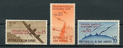SAN MARINO 1946 Air Post Set MNH ** / MNG Airplanes Airmail Aviation Planes