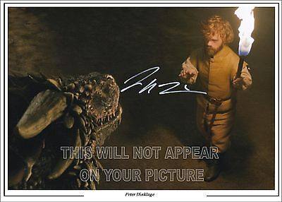 Game Of Thrones Peter Dinklage, (Tyrion) Signed Photo  Size A4 Pre-Print