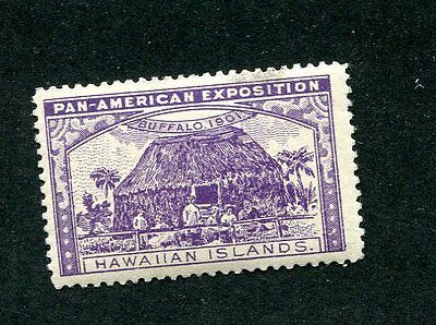 Vintage Poster Stamp PAN AMERICAN EXPOSITION Buffalo Worlds Fair 1901 HAWAII prp