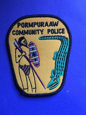 Pormpuraaw  Australia Community Police Shoulder Patch