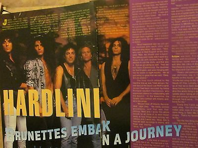 Hardline, Neal Schon, Journey, Two Page Vintage Clipping
