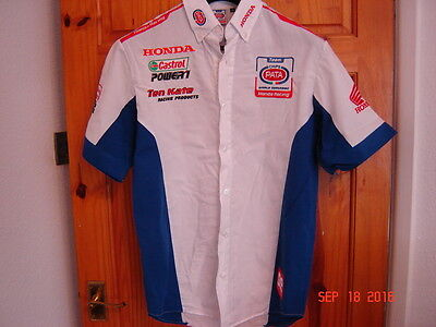 Genuine Pata Honda team Pit Shirt HRC Ten Kate size medium