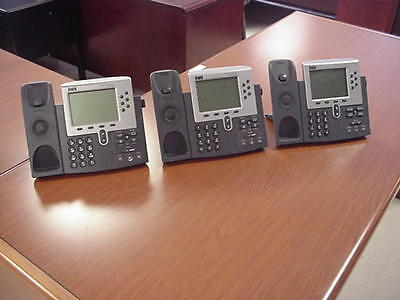 Lot of 3 Cisco 7960 Series IP Phones