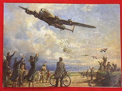 "Ww2 Battle Of Britain ""ace"" W.cmdr James G. Sanders Dfc 1940 Xmas Card Signed"