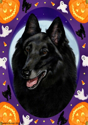 Garden Indoor/Outdoor Halloween Flag - Belgian Sheepdog 122041
