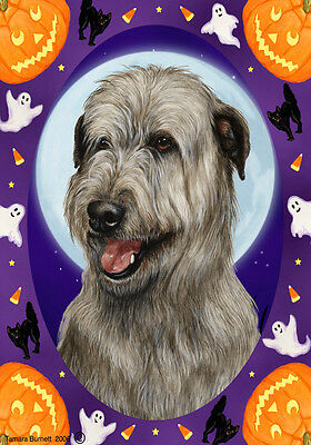 Garden Indoor/Outdoor Halloween Flag - Grey Irish Wolfhound 123291