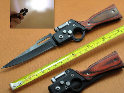 New Tactical AK47 LED Knife Folding Pocket Sharp Outdoor Rescue Saber Tools Gift