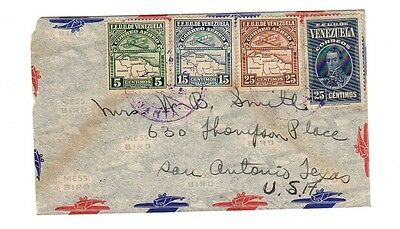 VENEZUELA old Air Mail Cover to USA