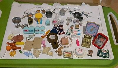 Job Lot Of Dolls House Items Kitchen Accessories Etc See Photo