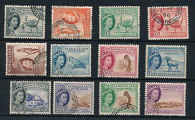 SOMALILAND 1953/58 Set To 10/ Used(12 Stamps) SG 50 Pounds (BK221)